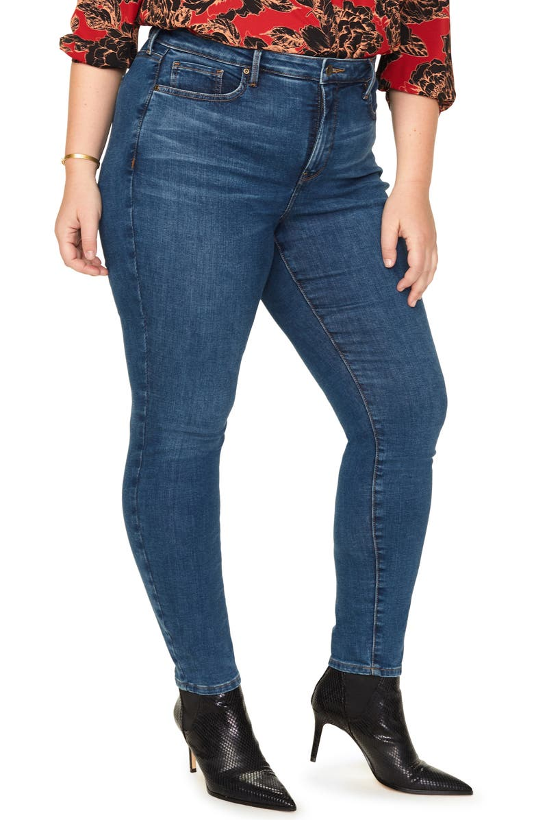 NYDJ Ami High Waist Skinny Jeans Clean Cabrillo Plus Size