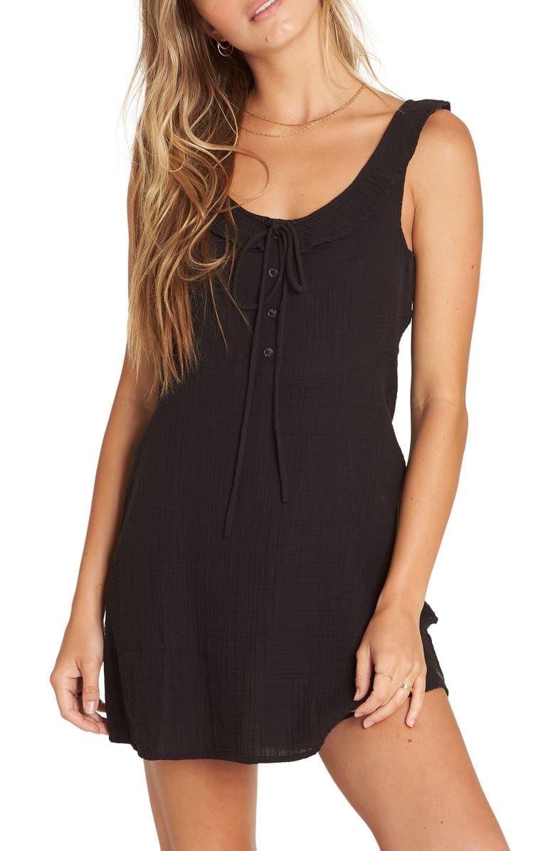 BILLABONG Skip It Minidress, Main, color, BLACK