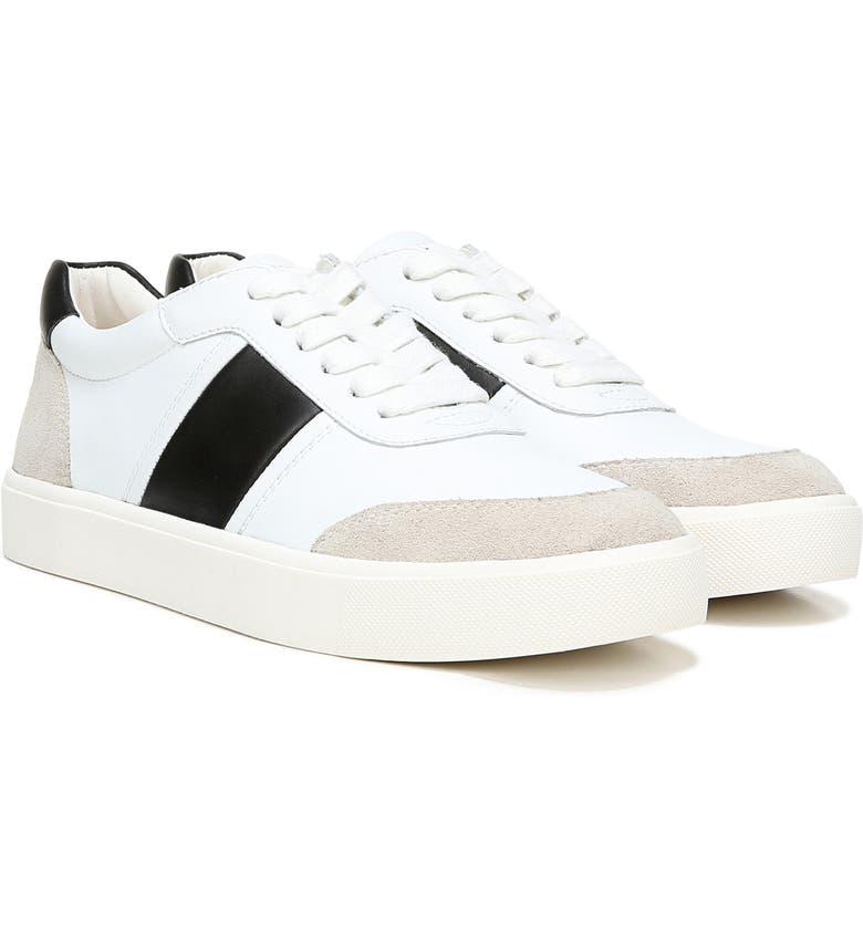 SAM EDELMAN Enna Sneaker, Main, color, WHITE/ BLACK/ GREIGE LEATHER