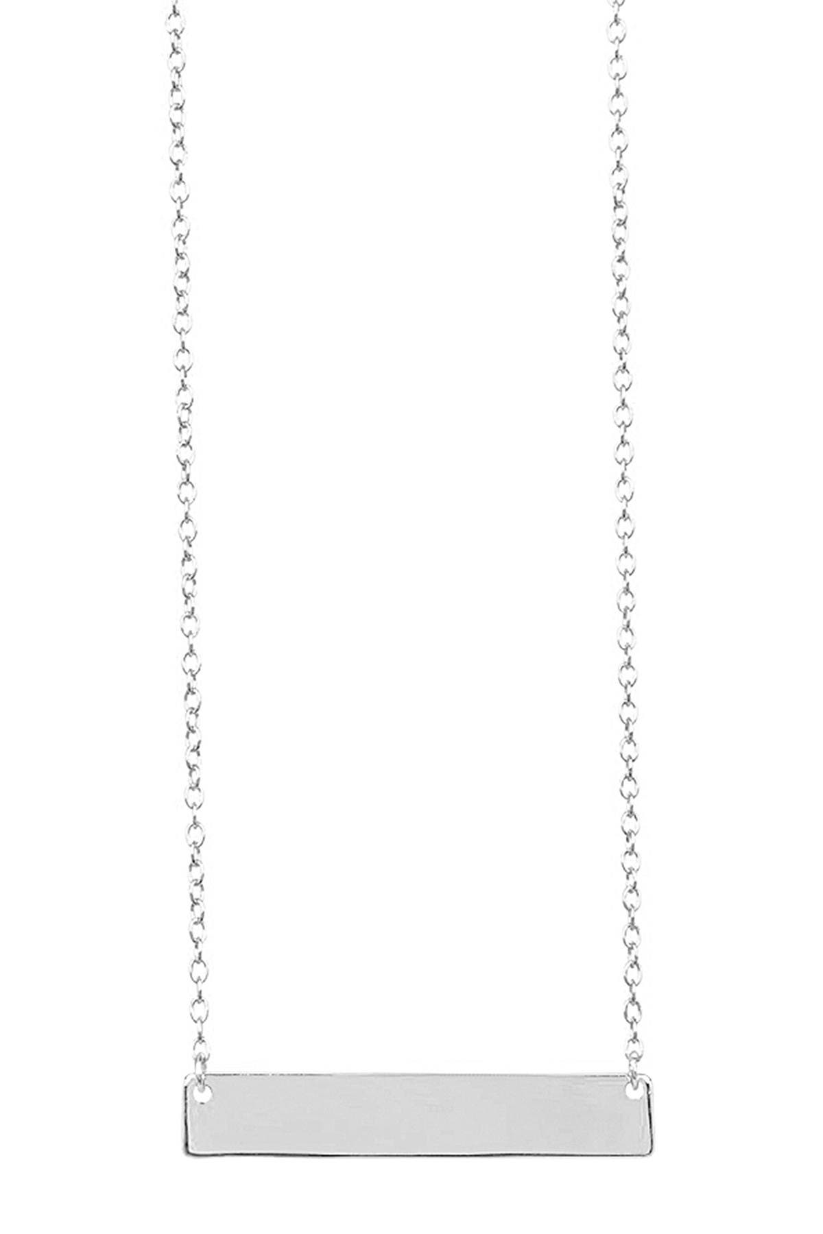 Sterling Forever Sterling Silver Mini Bar Necklace