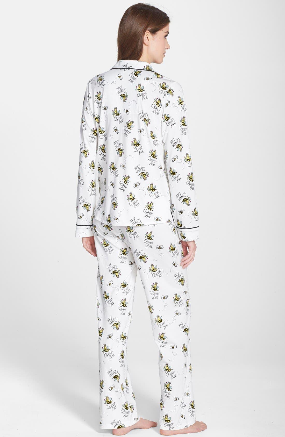 ,                             Print Jersey Pajamas,                             Alternate thumbnail 9, color,                             100