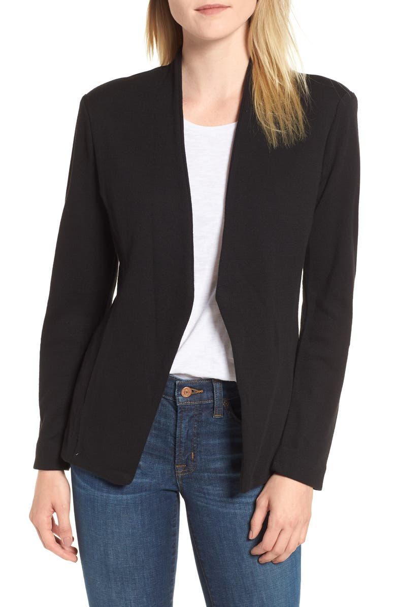 NIC+ZOE Sleek Jacket, Main, color, BLACK ONYX