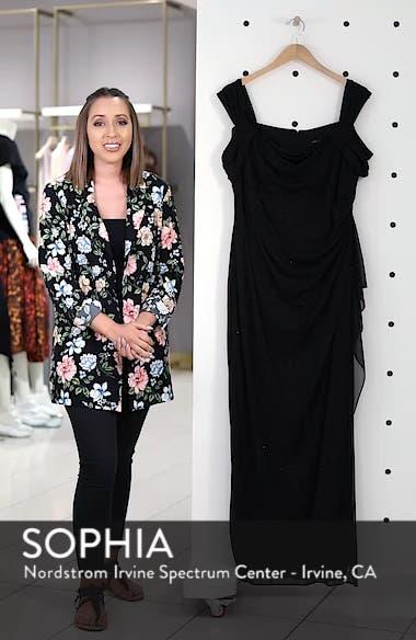 Cold Shoulder Sheath Gown, sales video thumbnail