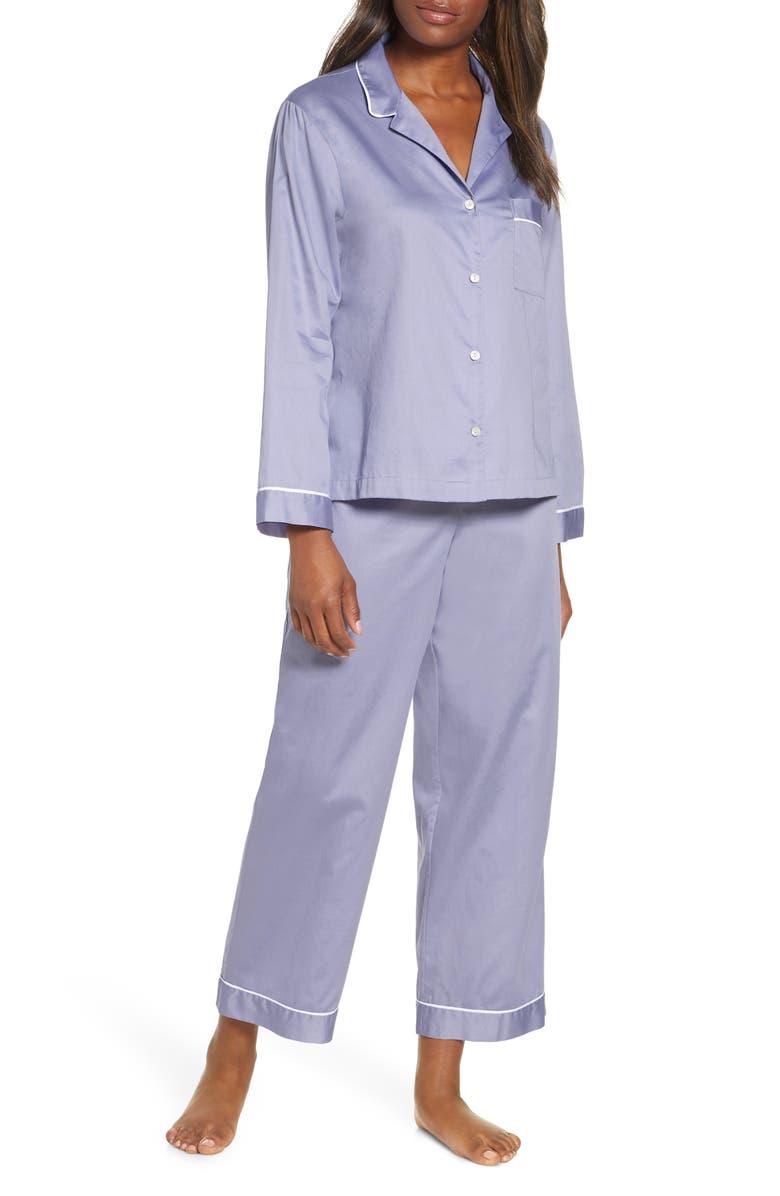 NATORI Essentials Sateen Pajamas, Main, color, CBY CHAMBRAY