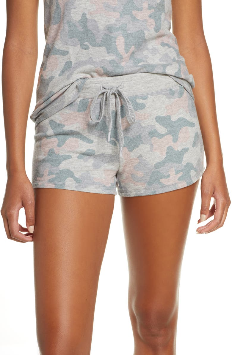 PJ SALVAGE Weekend Love Lounge Shorts, Main, color, H GREY
