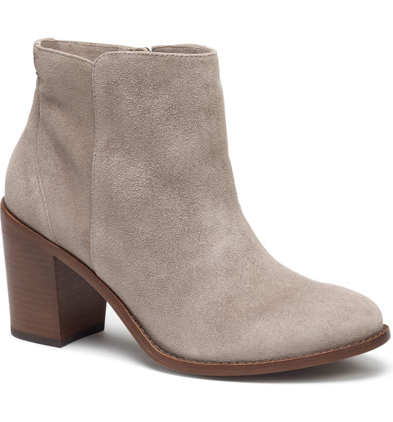 TRASK Tinsley Bootie, Main, color, LIGHT GREY SUEDE