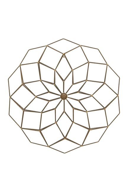 "Image of Willow Row Modern Geometric Metal Wall Decor - 30"" x 30"""