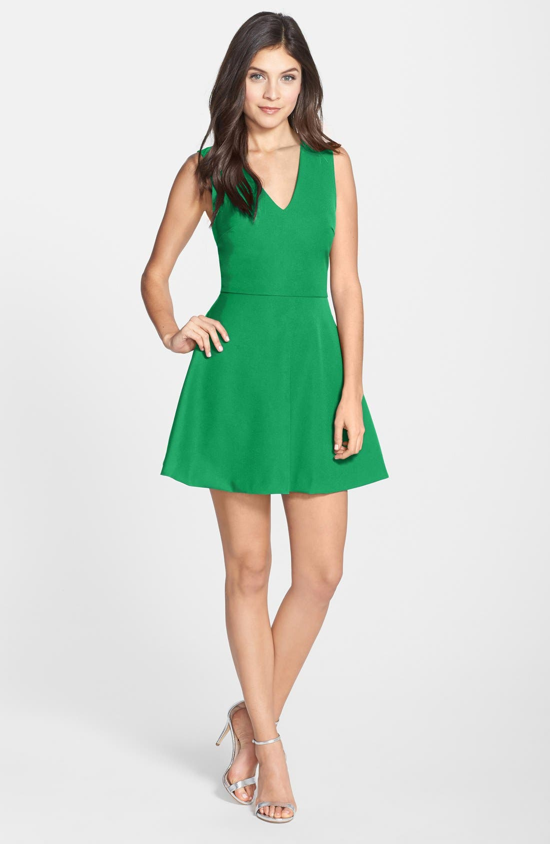 ,                             Bianca Back Cutout Fit & Flare Dress,                             Main thumbnail 23, color,                             319