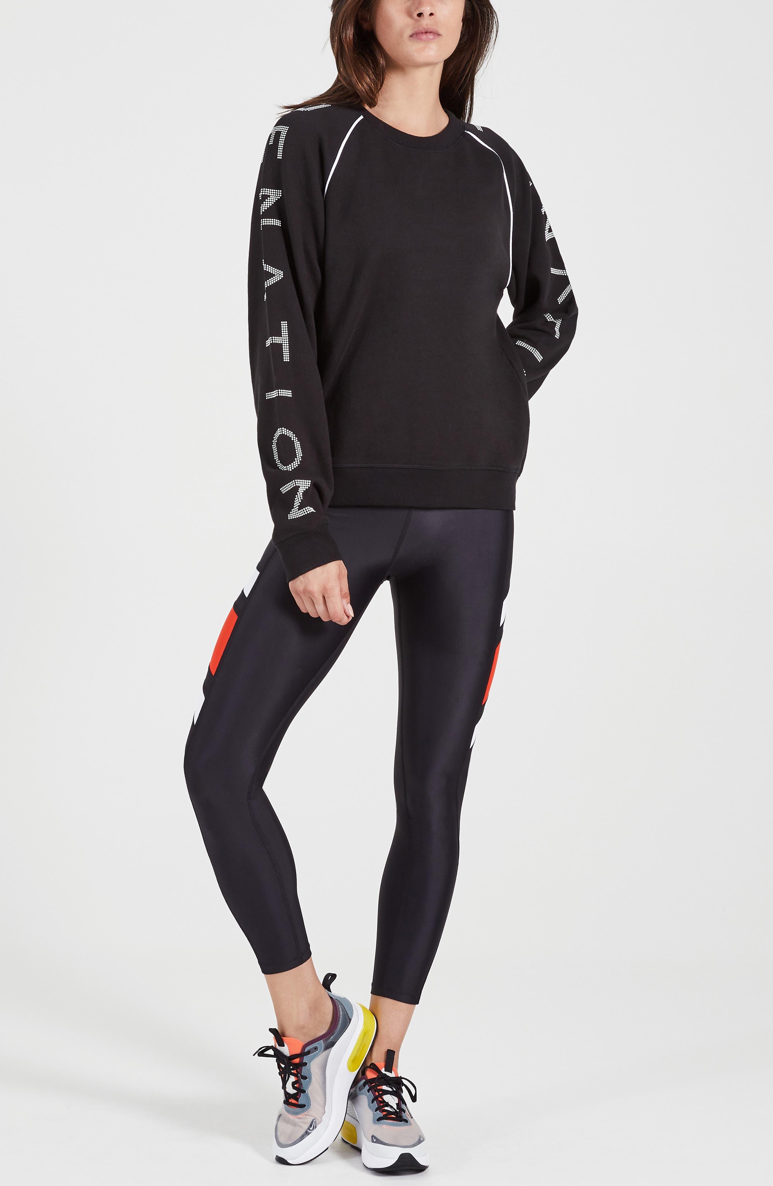 ,                             Highline Sweatshirt,                             Alternate thumbnail 8, color,                             WHITE/ BLACK