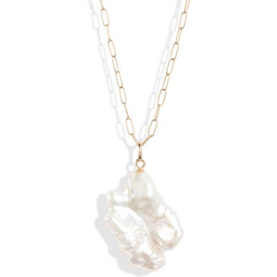 Loren Stewart Keshi Pearl Pendant Necklace