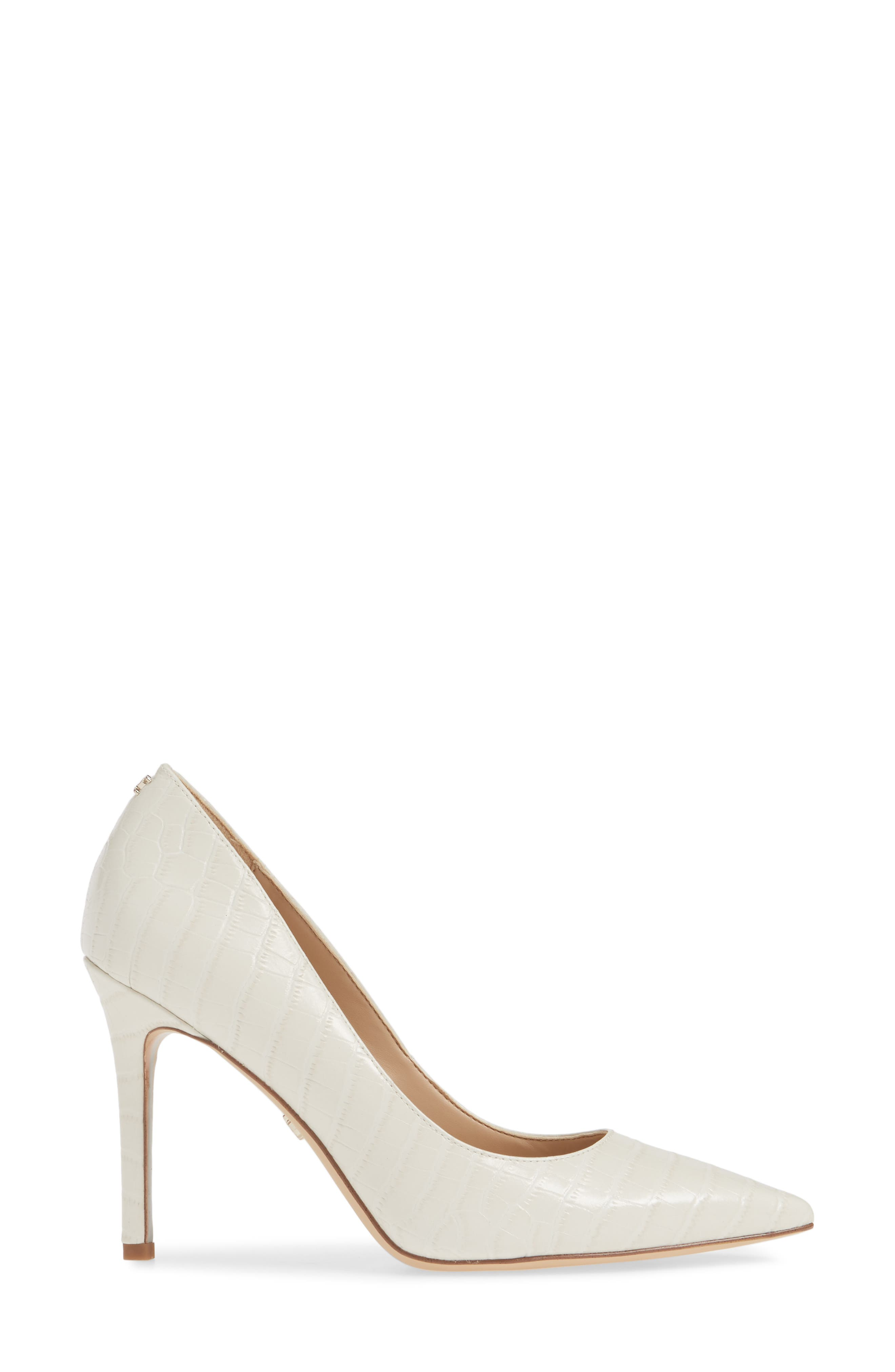 ,                             Hazel Pointy Toe Pump,                             Alternate thumbnail 3, color,                             MODERN IVORY LEATHER