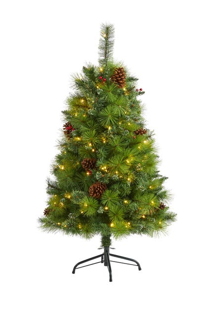 Image of NEARLY NATURAL 4ft. Montana Mixed Pine Artificial Christmas Tree