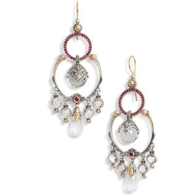Konstantino Pythia Crystal Chandelier Earrings