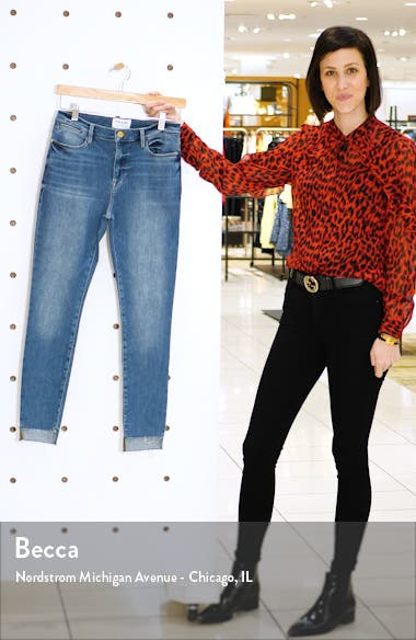 Le High Step Hem Crop Skinny Jeans, sales video thumbnail