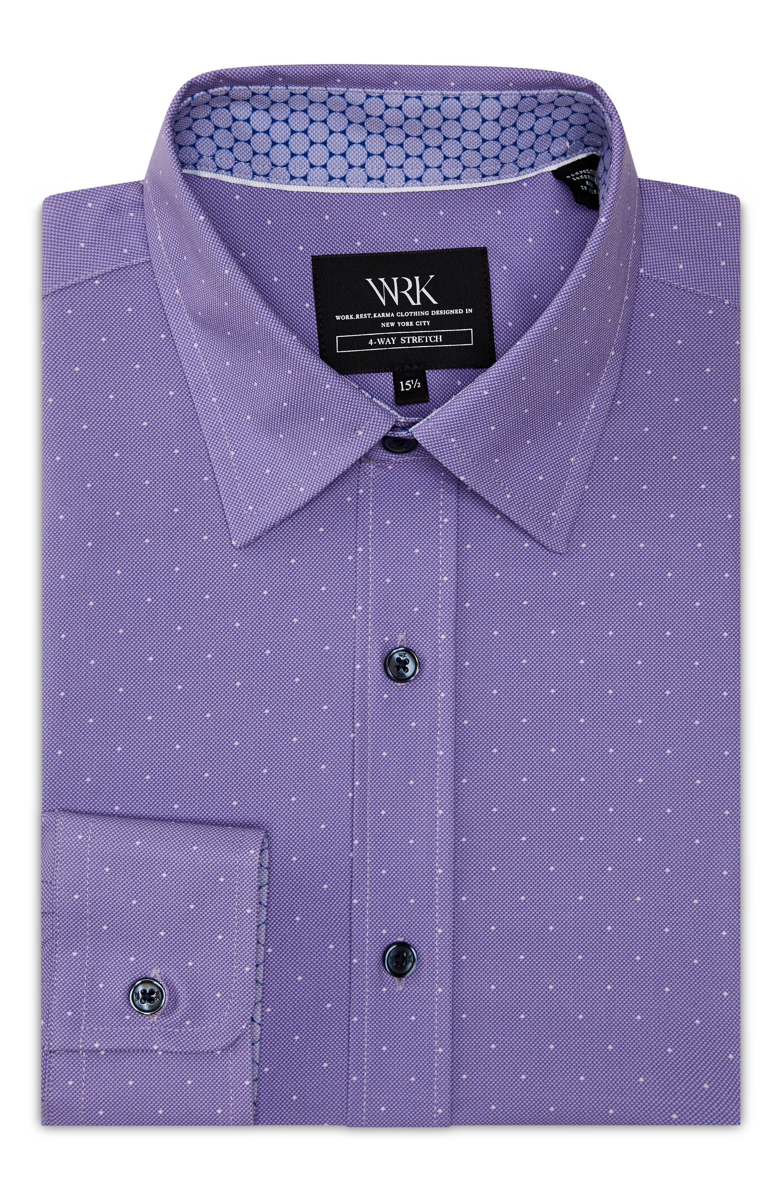 WRK Trim Fit Performance Dot Dress Shirt