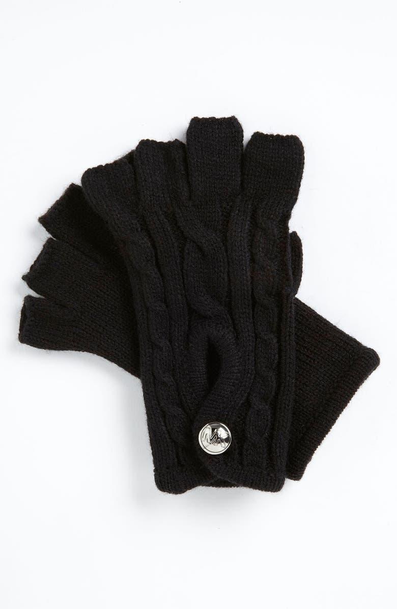 MICHAEL MICHAEL KORS Fingerless Gloves, Main, color, 001