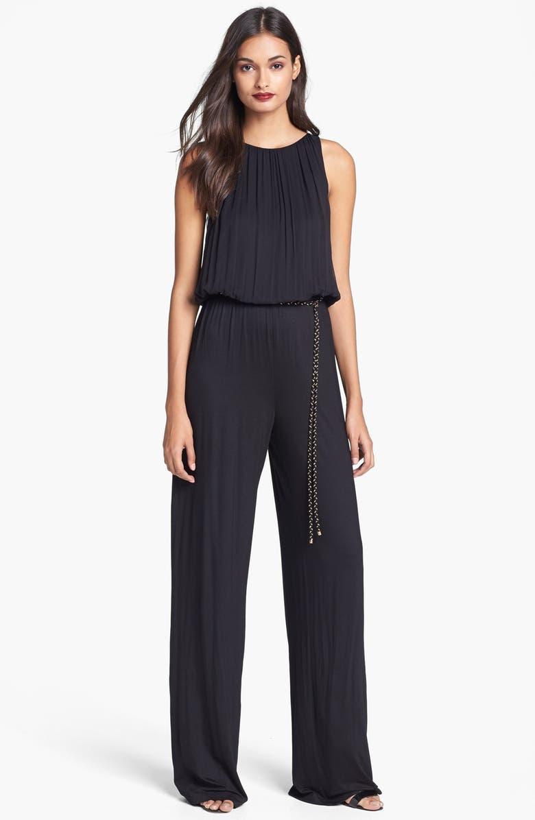 TRINA TURK 'Lillia' Jersey Jumpsuit, Main, color, 001