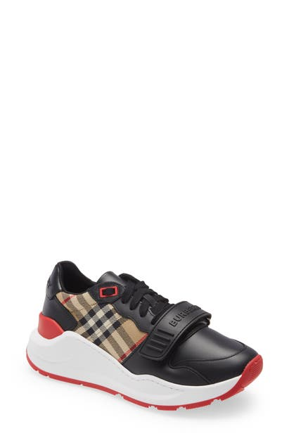 Burberry RAMSEY CHECK LOW TOP SNEAKER