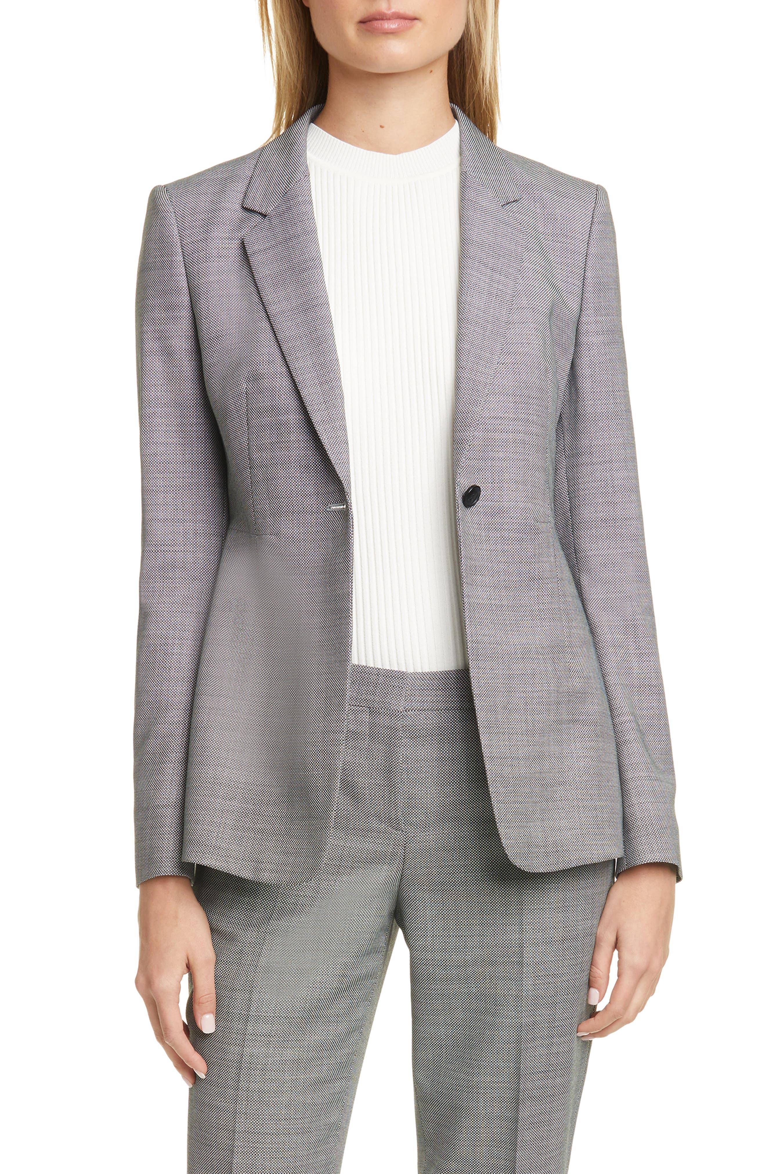 BOSS Jalaia Bird's Eye Suit Jacket