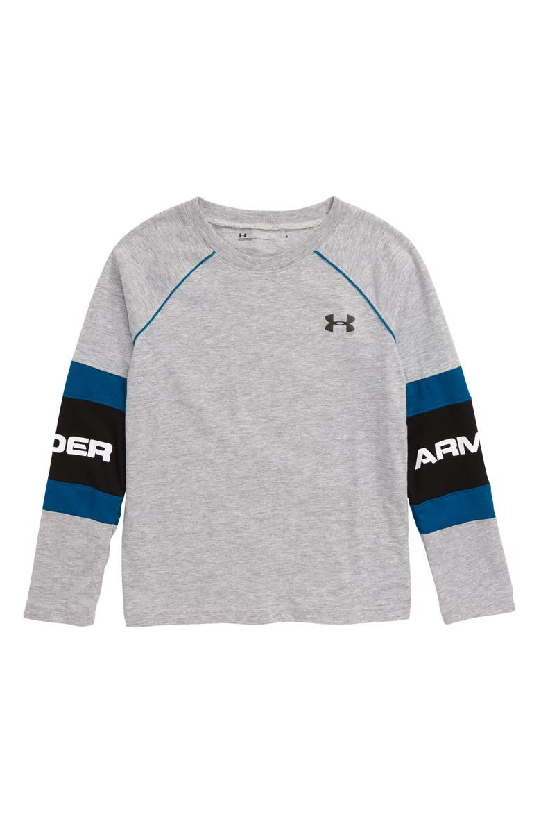 UNDER ARMOUR Standout T-Shirt, Main, color, MOD GRAY HEATHER