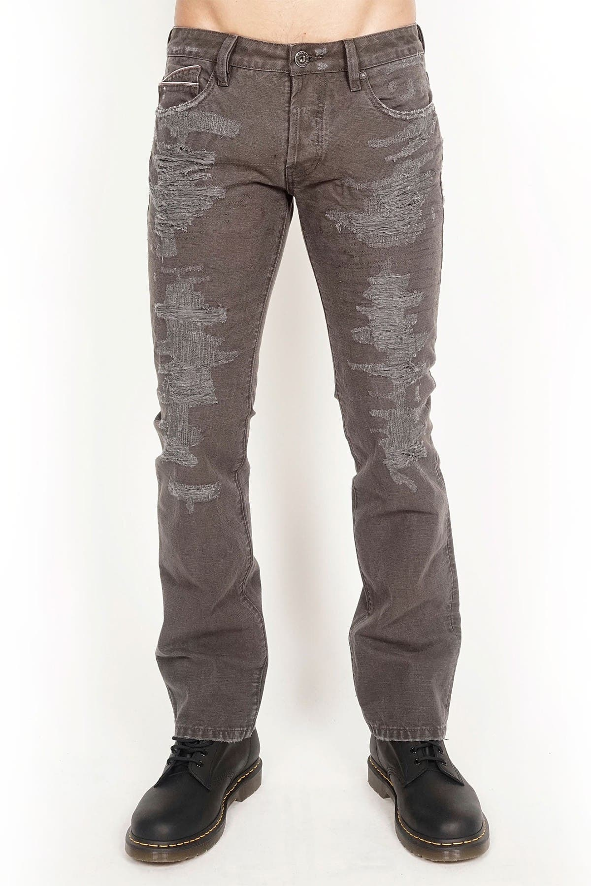 Image of Cult Of Individuality Rebel Distressed Straight Jeans