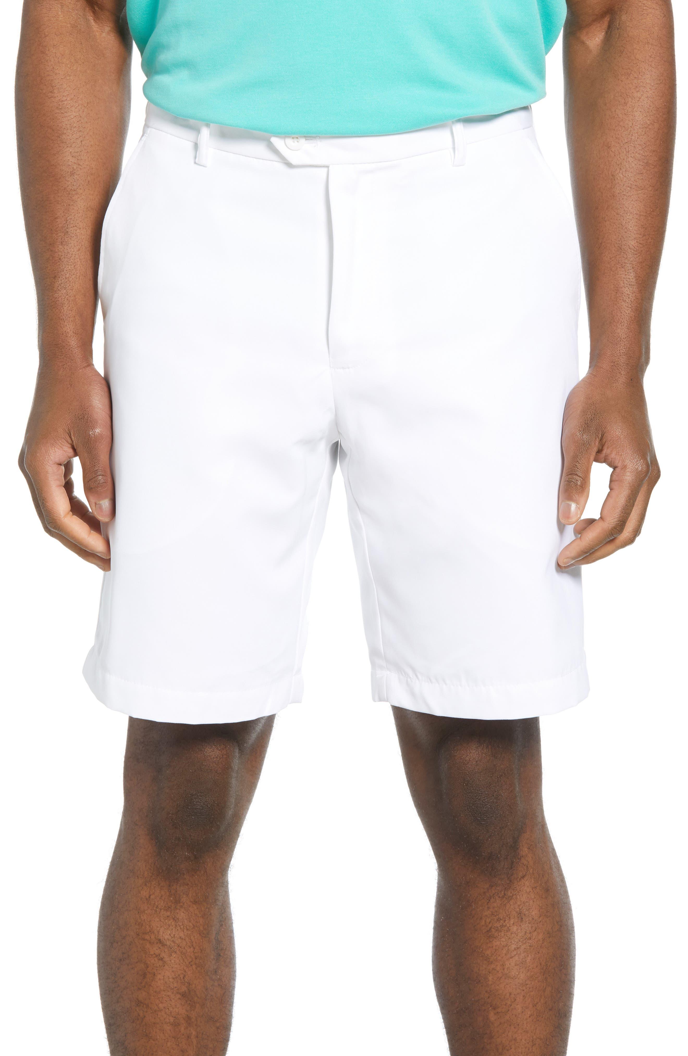 men's bugatchi solid shorts, size 42 - white