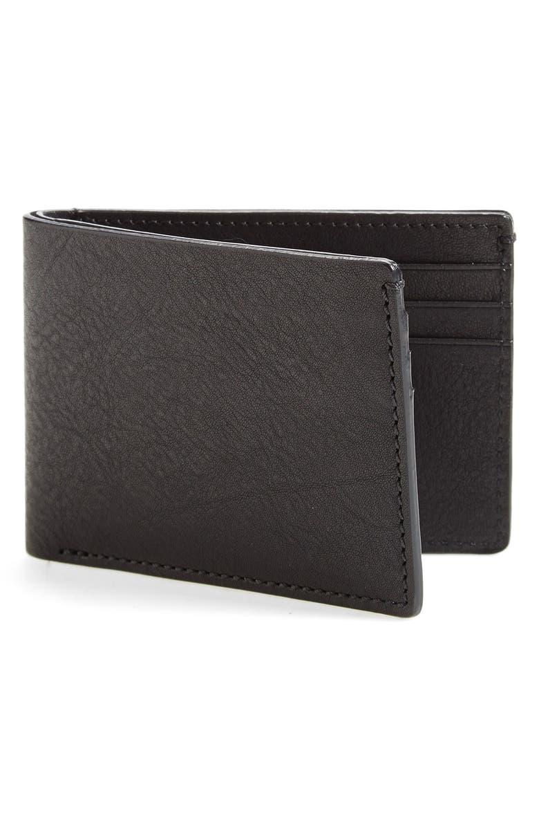 BOSCA Leather Wallet, Main, color, BLACK