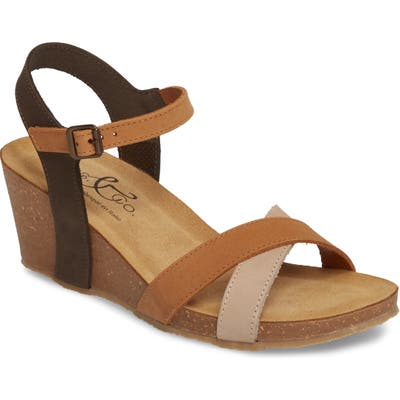 Bos. & Co. Lucca Wedge Sandal, Brown