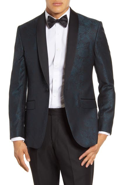 Ted Baker Jackets JOSH TRIM FIT FLORAL JACQUARD WOOL DINNER JACKET