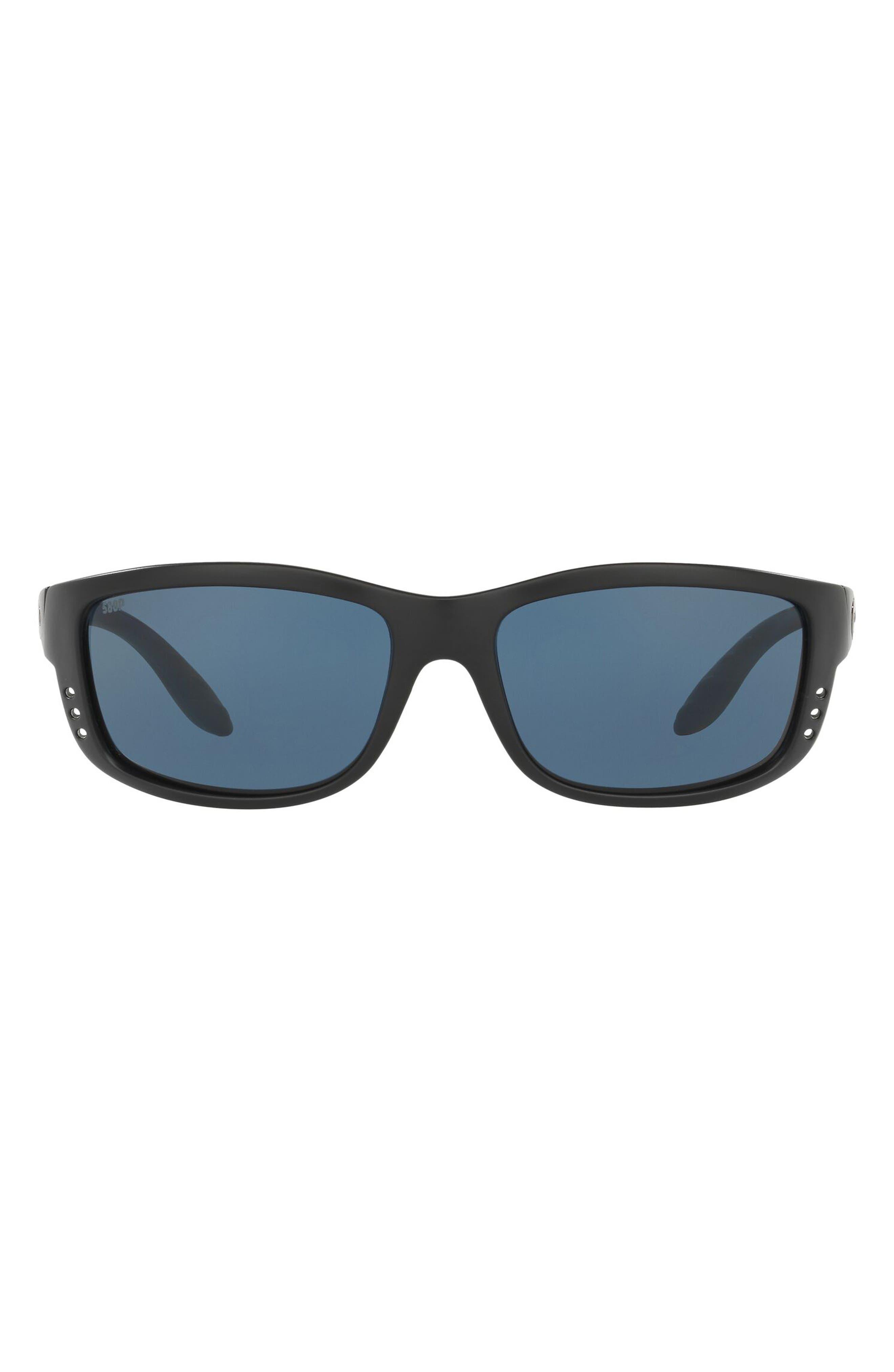 61mm Poloarized Rectangular Sunglasses