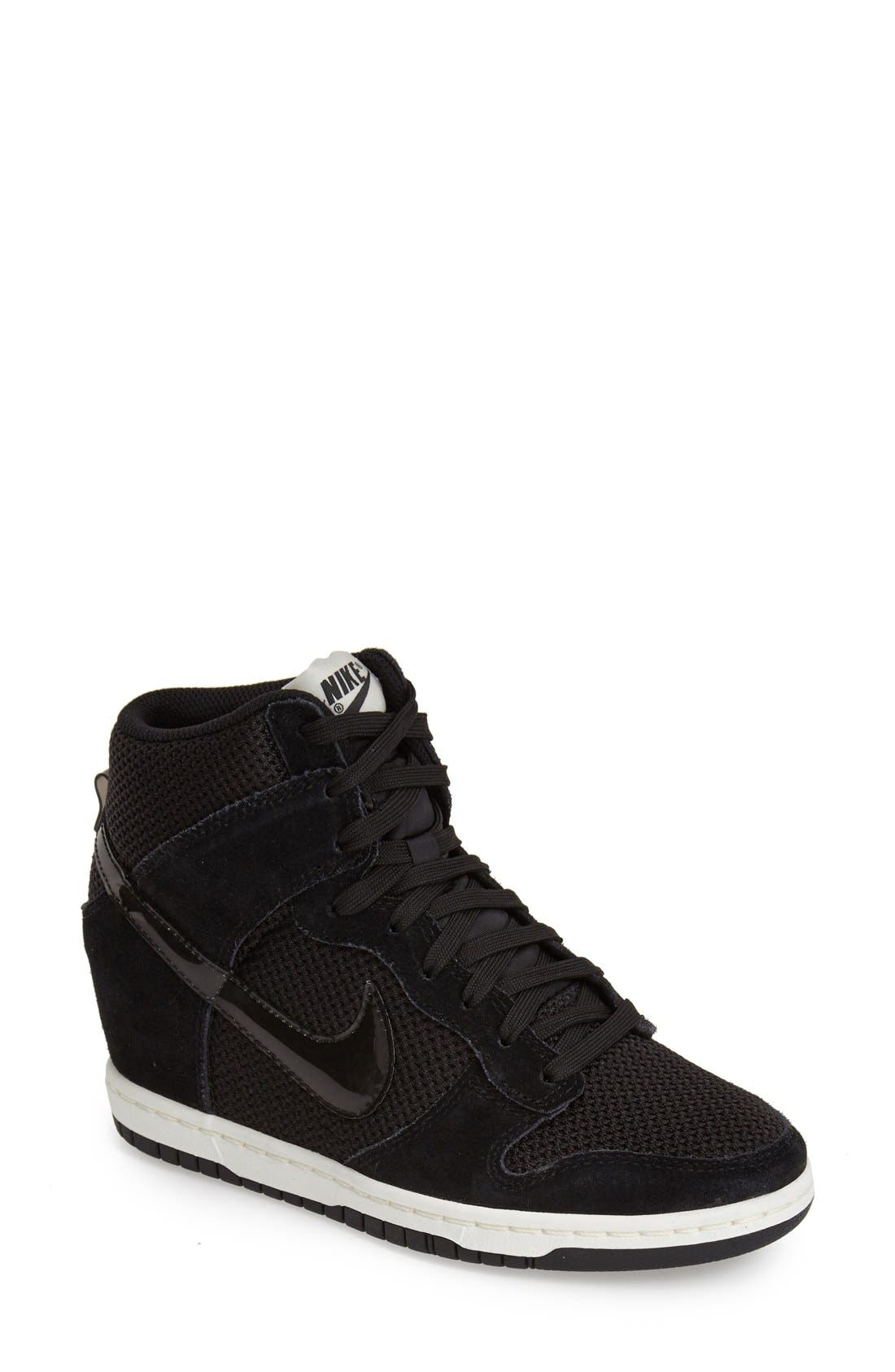 'Dunk Sky Hi - Essential' Wedge Sneaker, Main, color, 001
