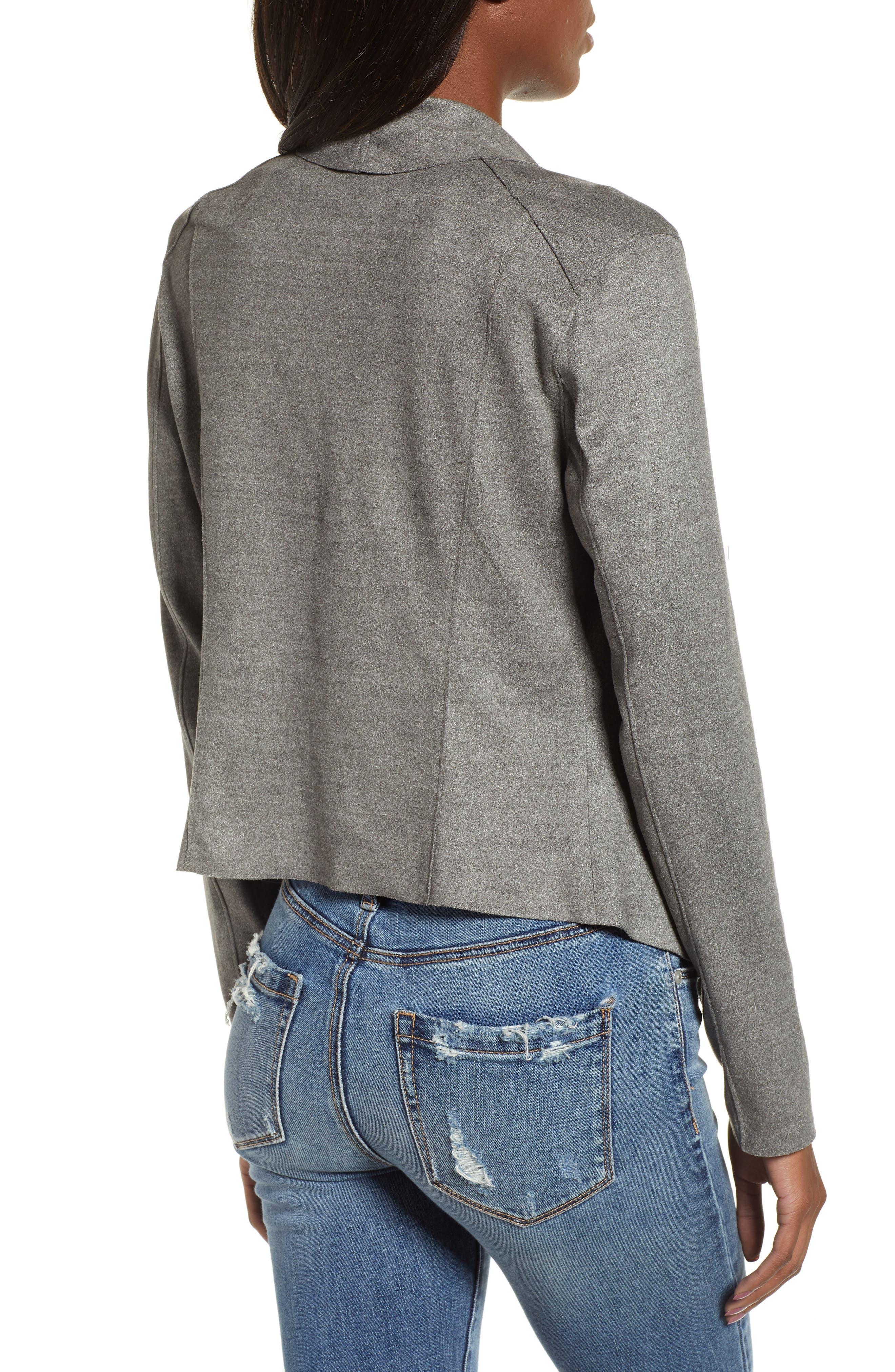 ,                             Faux Suede Drape Jacket,                             Alternate thumbnail 2, color,                             020