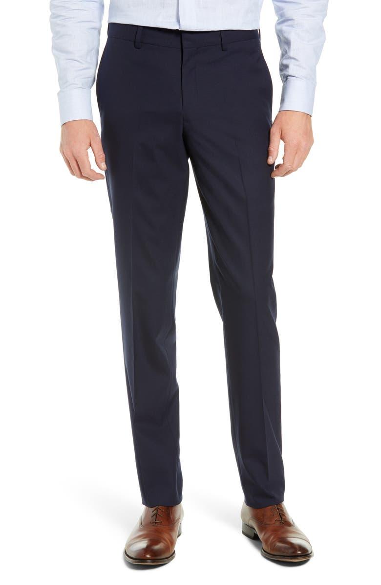 NORDSTROM MEN'S SHOP Tech-Smart Slim Fit Stretch Wool Dress Pants, Main, color, NAVY