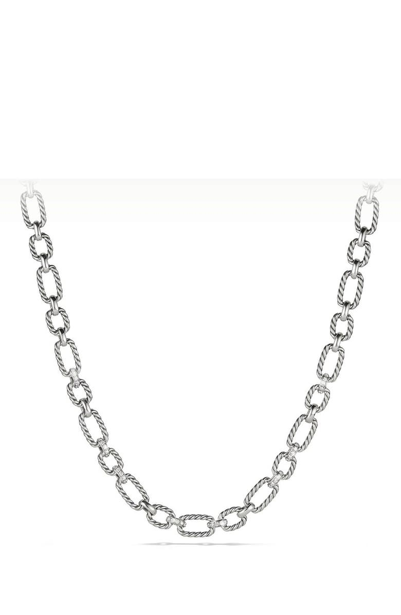 DAVID YURMAN 'Cushion' Link Necklace, Main, color, 040