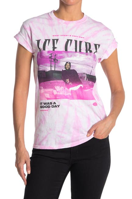 Image of MERCH TRAFFIC Tie Dye Ice Cube Graphic T-Shirt