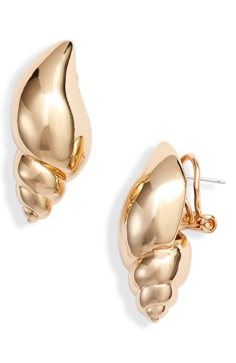 KATE SPADE NEW YORK under the sea tulip shell stud earrings, Main, color, 711