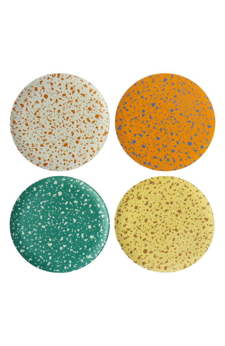 XENIA TALER Terrazzo Set of 4 Side Plates, Main, color, ASSORTED