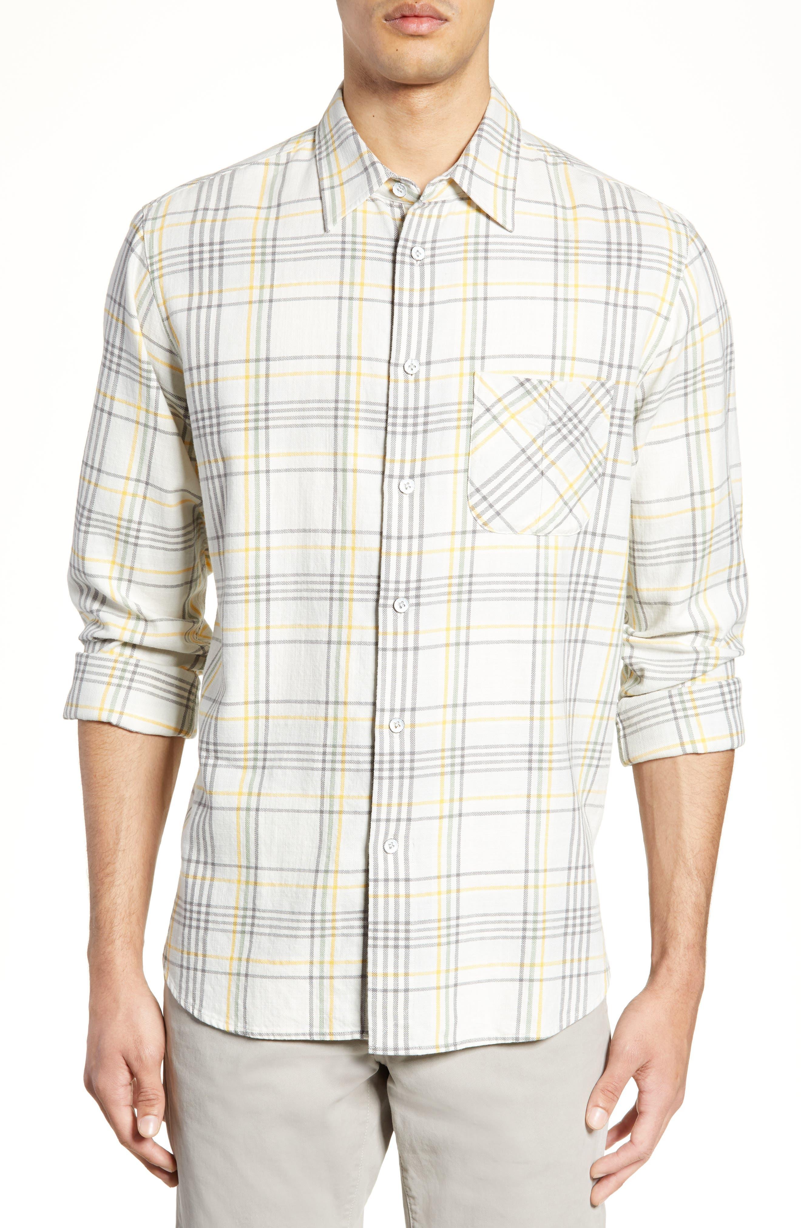 Rag & Bone Fit 3 Regular Fit Beach Shirt, Ivory