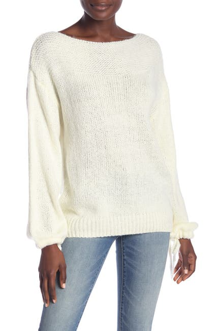 Image of Wishlist Boatneck Long Sleeve Sweater