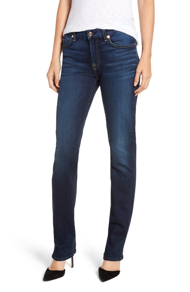 7 FOR ALL MANKIND<SUP>®</SUP> b(air) Kimmie Straight Leg Jeans, Main, color, AUTHENTIC FATE