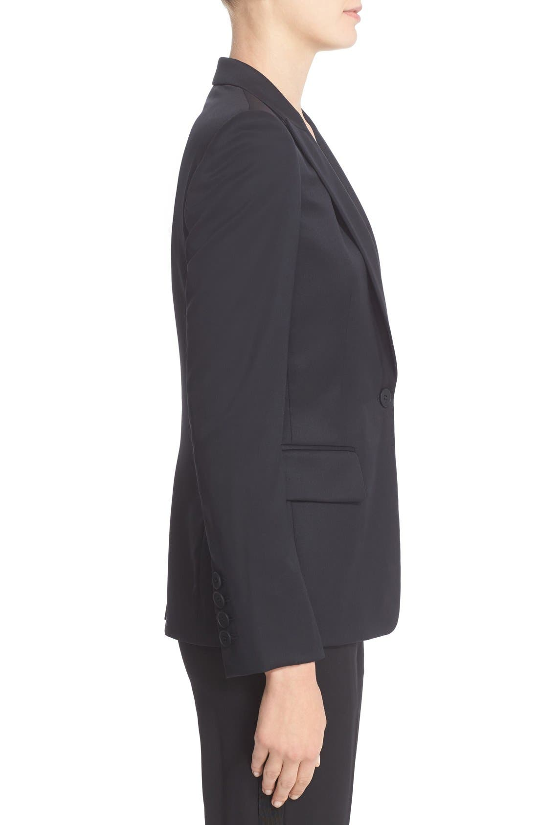 ,                             PS1 One-Button Wool Jacket,                             Alternate thumbnail 6, color,                             001