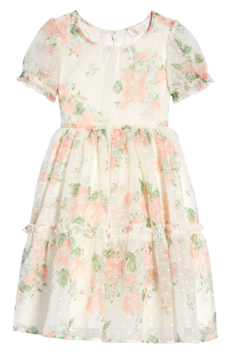 RACHEL PARCELL Floral Dress, Main, color, IVORY FALL BOUQUET
