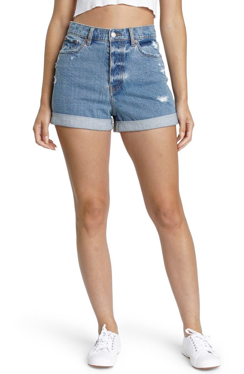 DAZE Dad's Girl Cuffed Mom Shorts, Main, color, 421