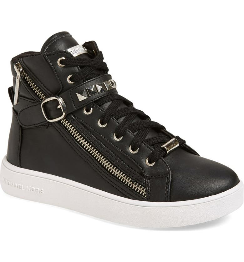 MICHAEL MICHAEL KORS 'Ivy Rory' High Top Sneaker, Main, color, 001