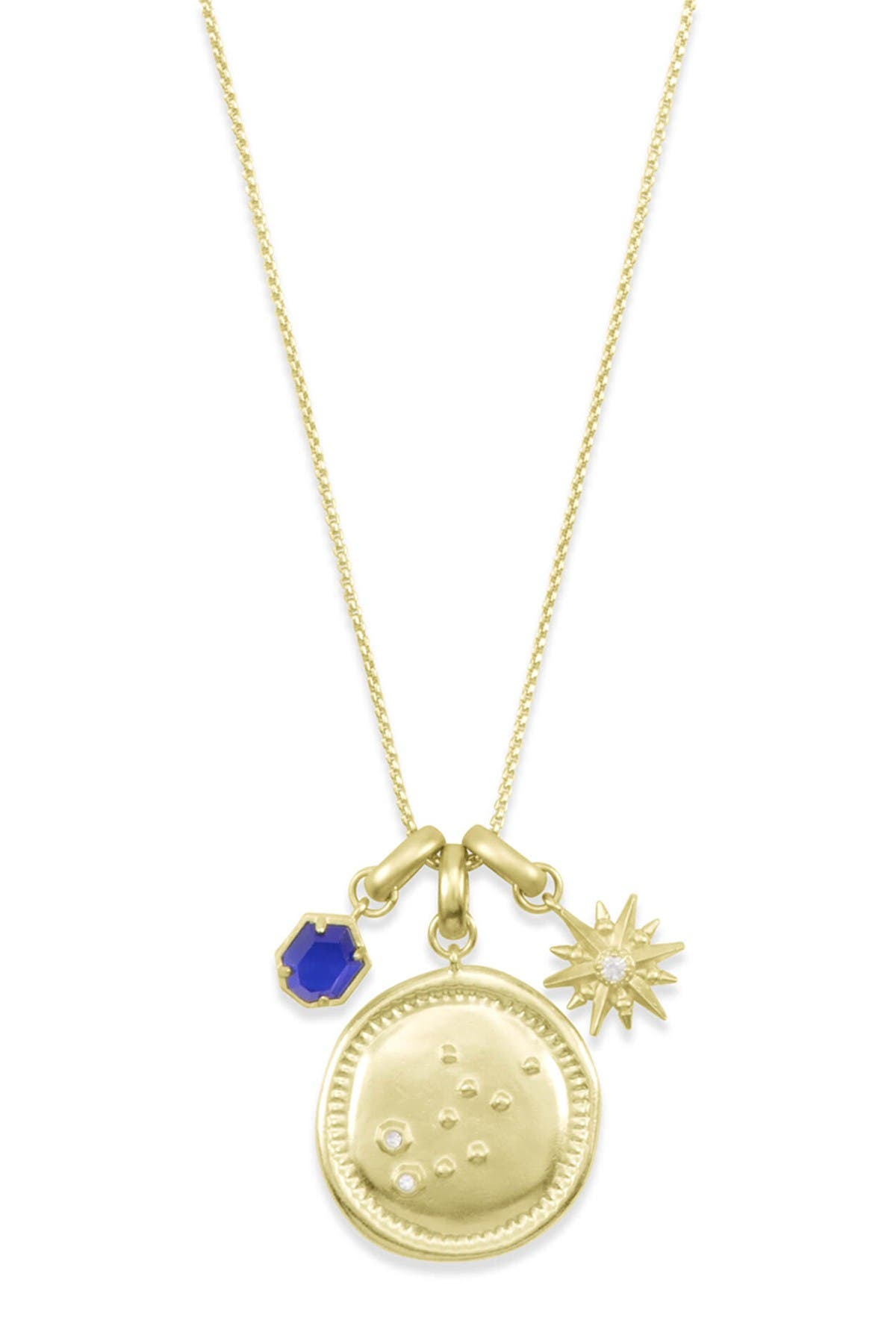 Image of Kendra Scott 14K Gold Plated Virgo Charm Necklace