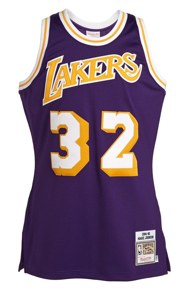 pretty nice 9283b 617f8 'Los Angeles Lakers 1984-1985 - Magic Johnson Authentic' Basketball Jersey