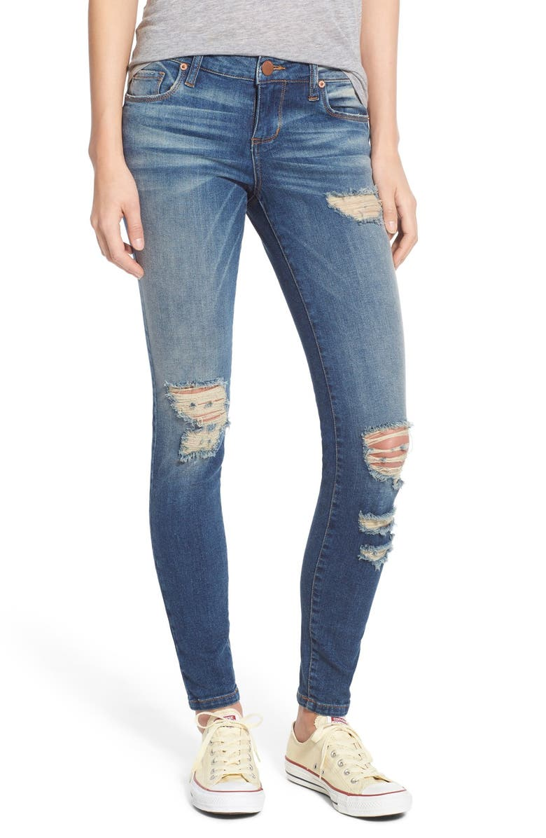 STS BLUE 'Piper' Distressed Skinny Jeans, Main, color, 400