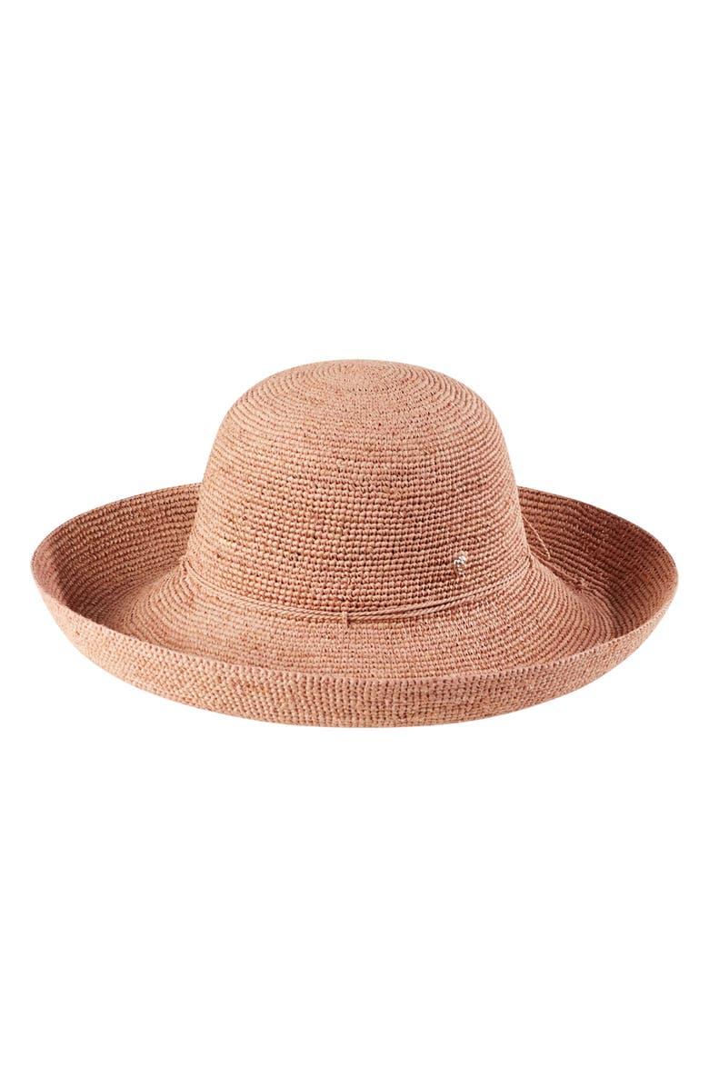 HELEN KAMINSKI 'Provence 12' Packable Raffia Hat, Main, color, LIGHT MUSK