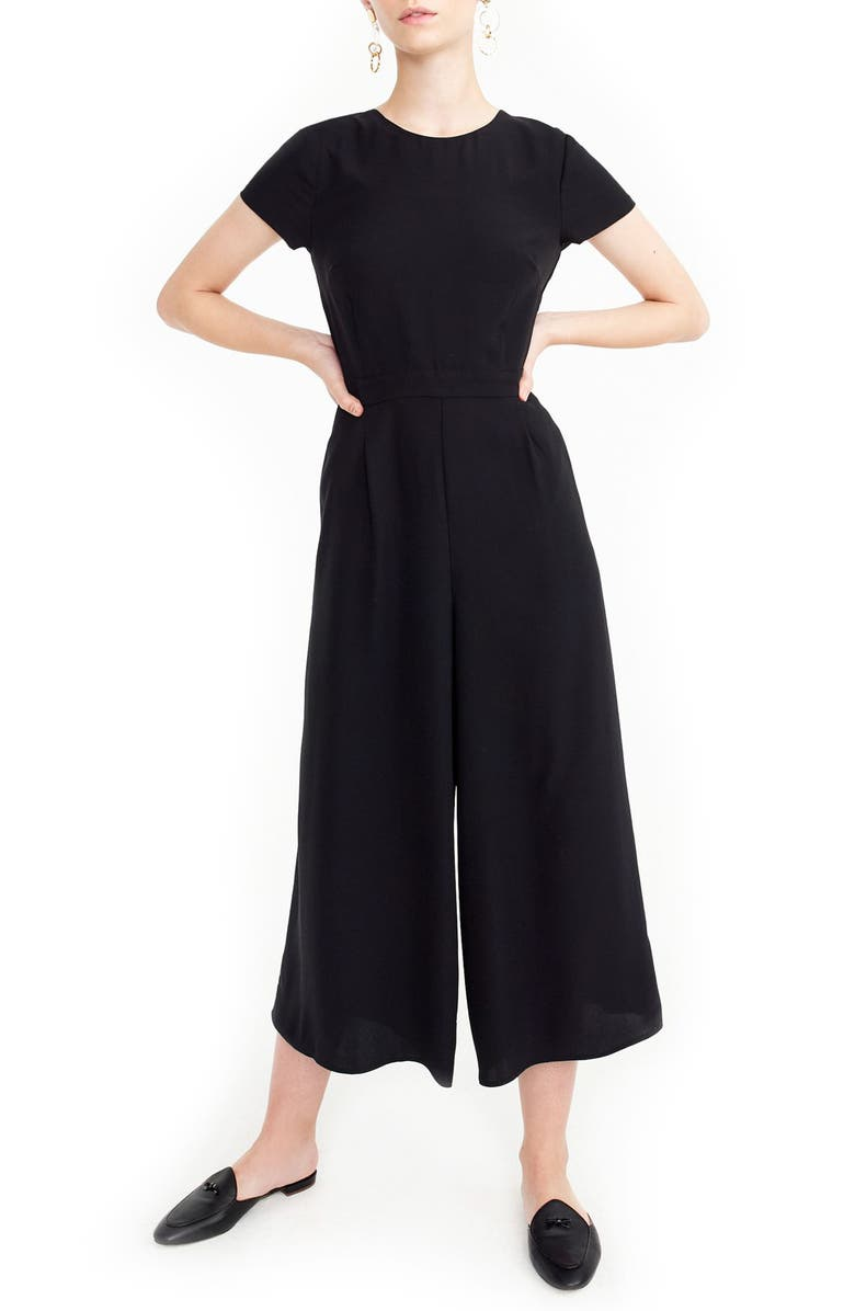 J.CREW Drapey Wrap-Back Jumpsuit, Main, color, 001