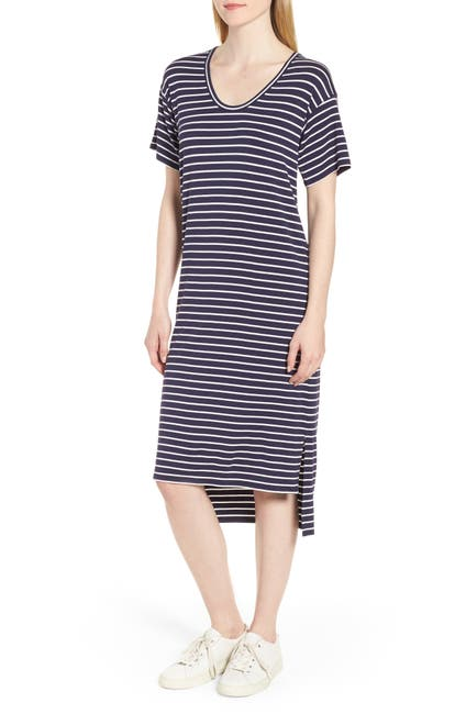 Image of Nordstrom Signature High/Low Stripe Dress